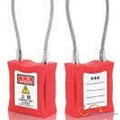 Engineering plastic steel cable safety padlock 206